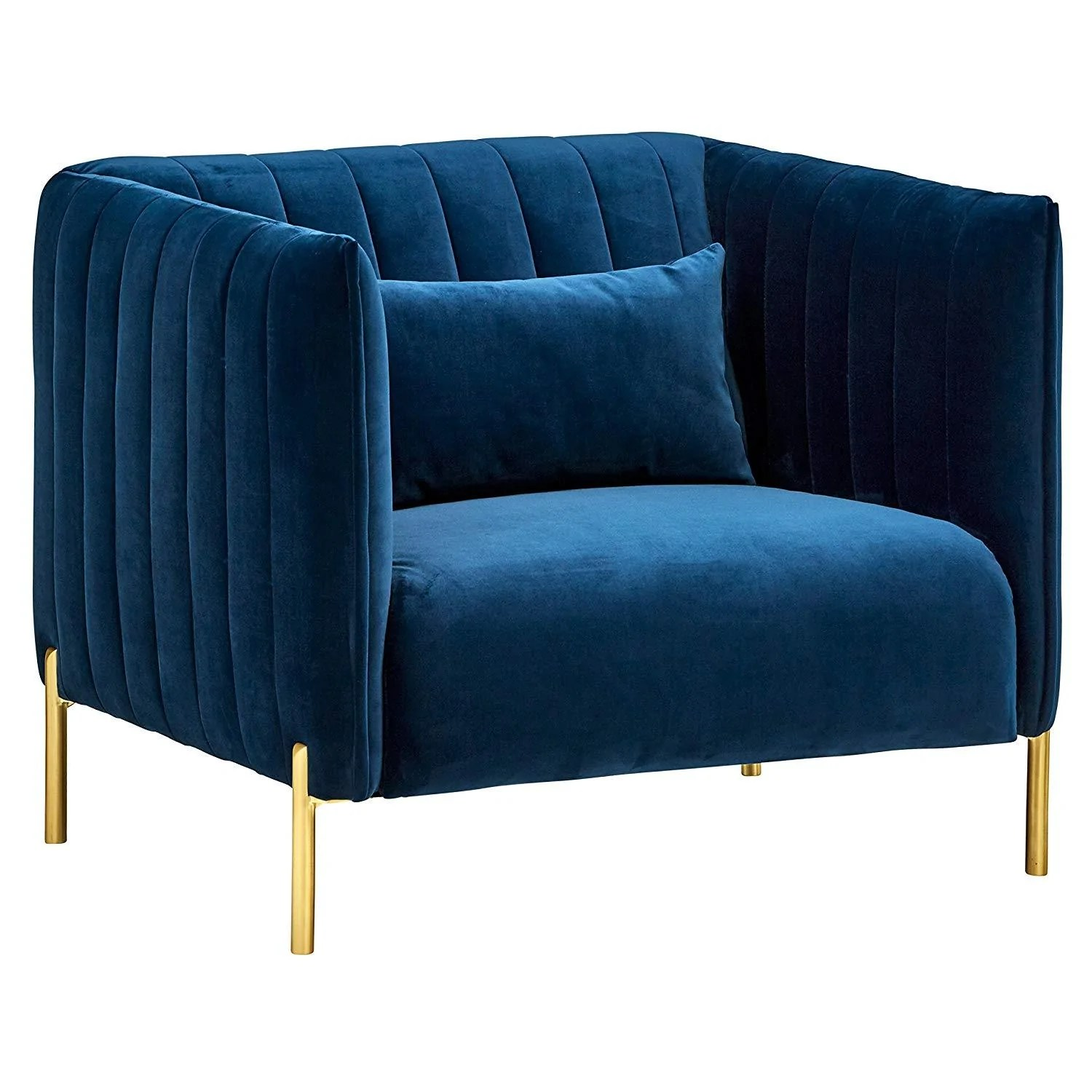 Details About Velvet Tufted Mid Century Modern Sofa 77 5 W Navy Blue