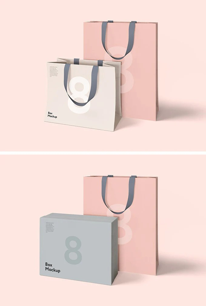 the tote bag mockup for branding presentations, built with photoshop and based on a real photo by kelly sikkema. Luxury Shopping Box And Bag Mockups Mockup Hunt