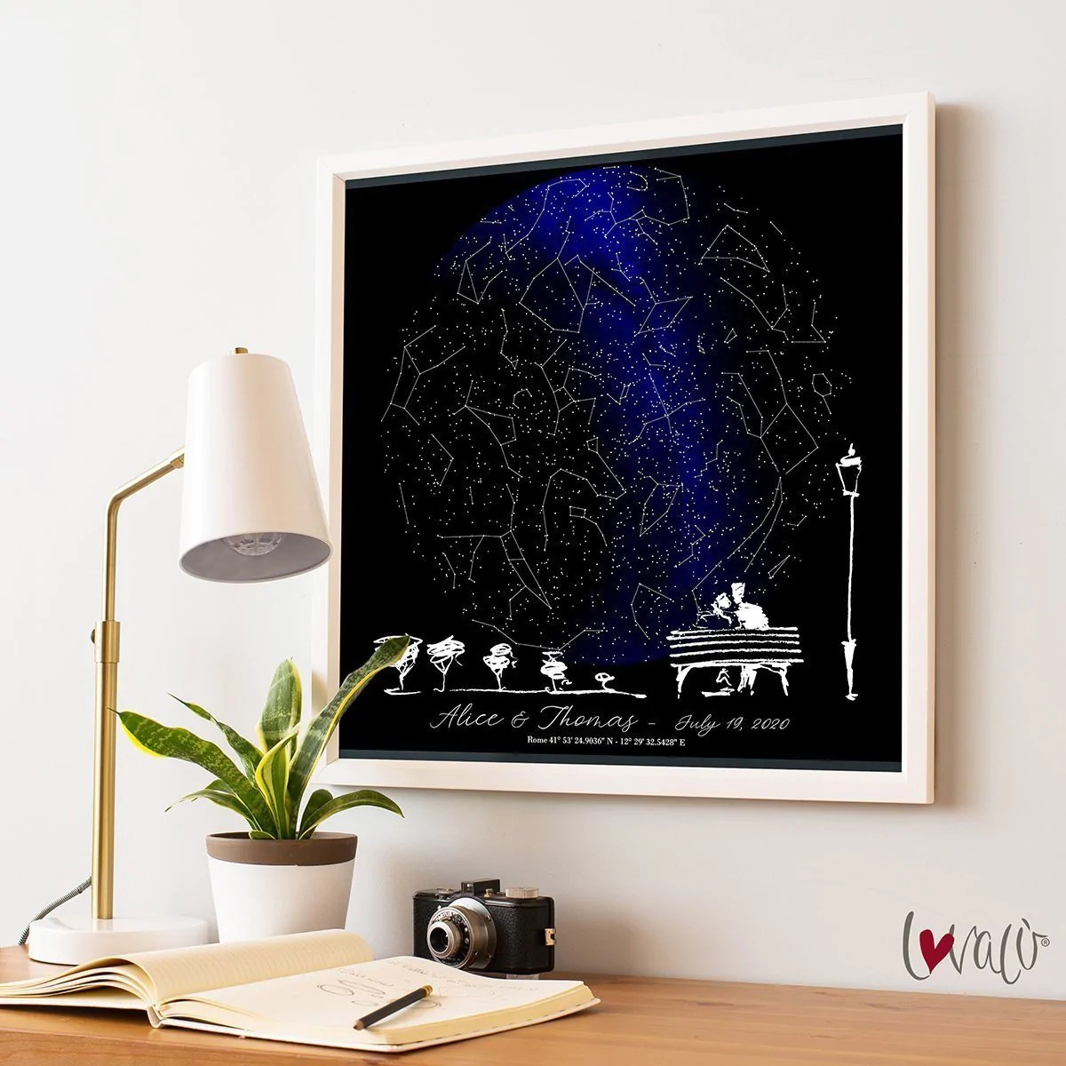 custom star map night sky print star map poster wedding gift constellation wedding anniversary gift personalized gift engagement gift