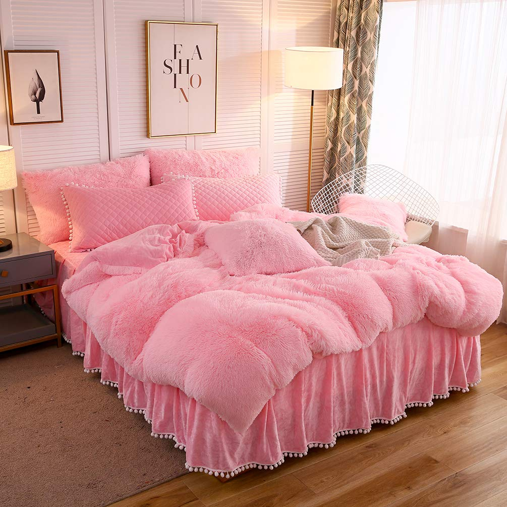 How well will one fit in your bedroom? Softy Pink Bed Set - Tapestry Girls