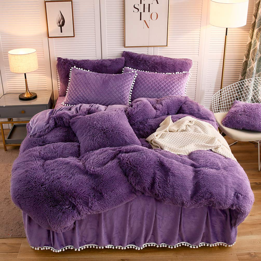 the softy purple bed set