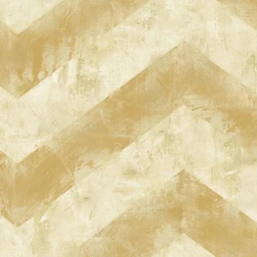 Seabrook Hubble Chevron Metallic Gold And White Wallpaper ...