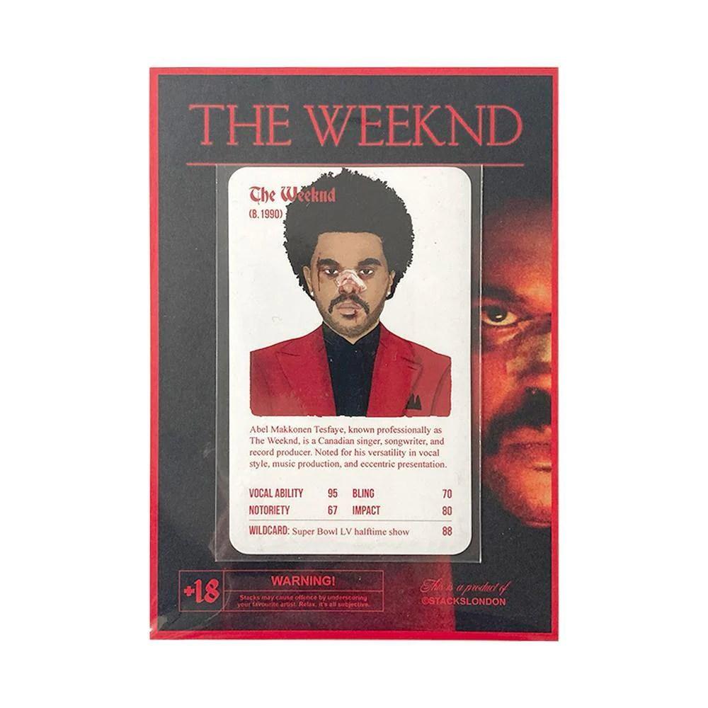 the weeknd individual card stacks london