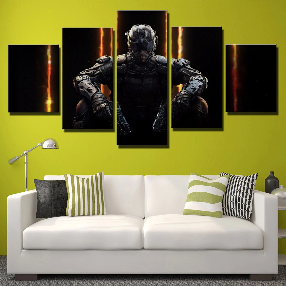 5 Piece Call of Duty Black Ops 3 Print Canvas Picture Wall Decor Art     5 Piece Call of Duty Black Ops 3 Print Canvas Picture Wall Decor Art 204