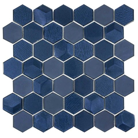 blue mosaic tile for wall floor