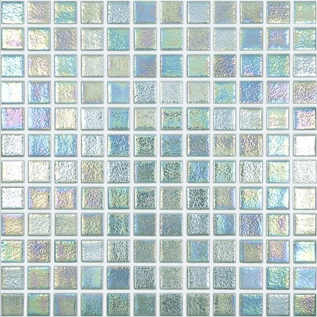 mtod0058 classic 1x1 stacked squares iridescent jade green glossy glass mosaic tile