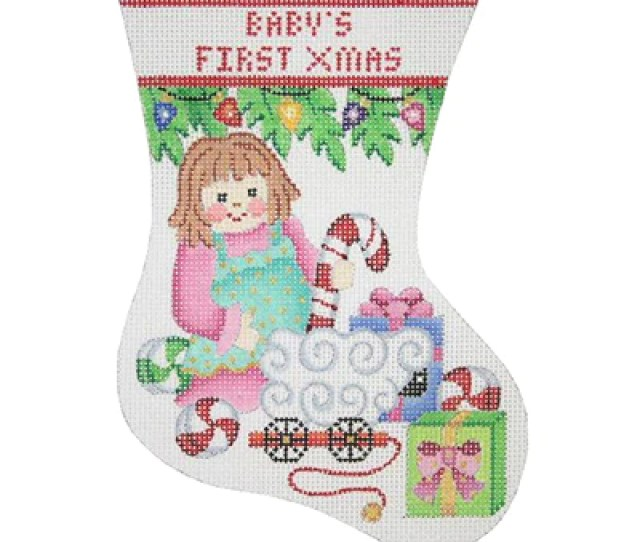 Bb 0306 Babys First Christmas Mini Stocking Doll