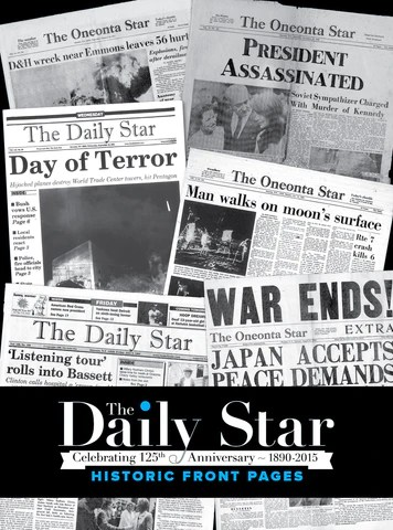 The Daily Star Historic Front Pages Book Pediment