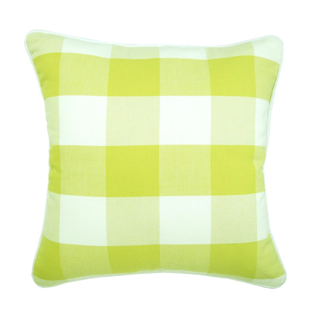 chartreuse green buffalo checks throw pillow cover chartreuse plaid the homecentric