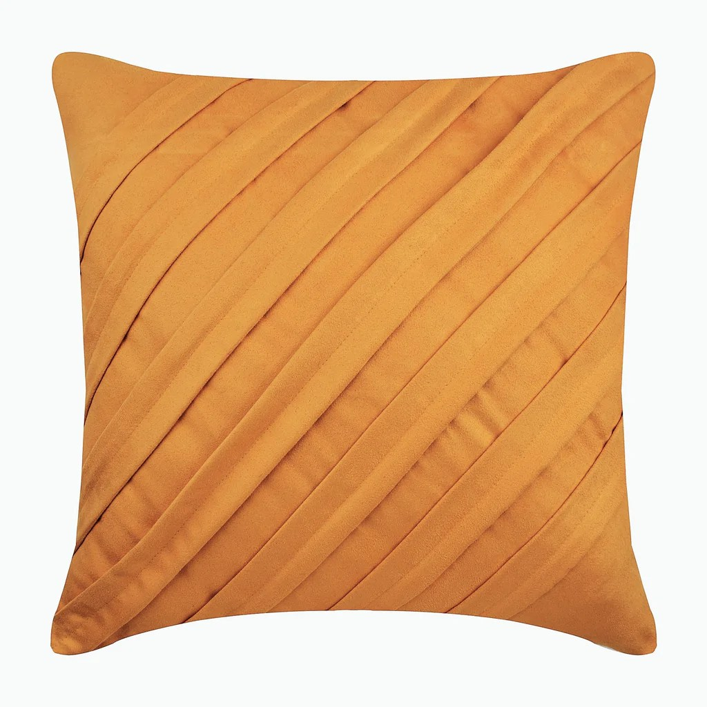 mustard faux suede throw pillow cover contemporary mustard yellow the homecentric