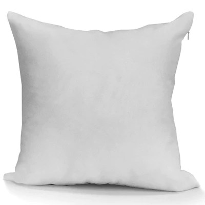 blank sublimation white polyester pillow cover 16 x 16 with 14 wide zipper
