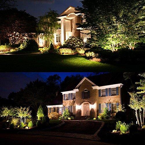 4 x outdoor garden led spike lights