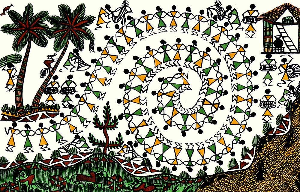 Tribal Village Warli Painting Wwwredbagin