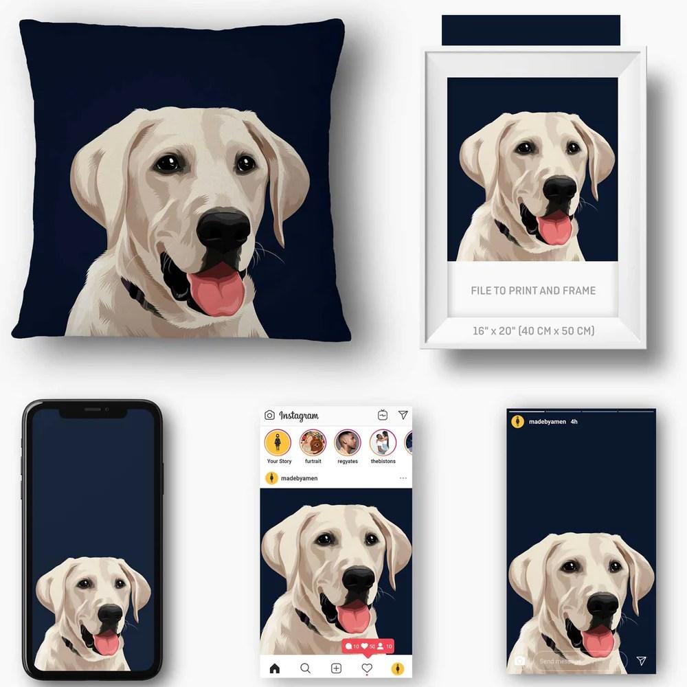 custom pet pillow