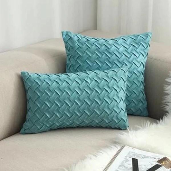 blue green woven cushion covers 45x45cm a