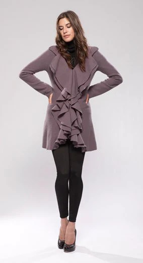 Ruffle Front Jacket - Stacey Zhang