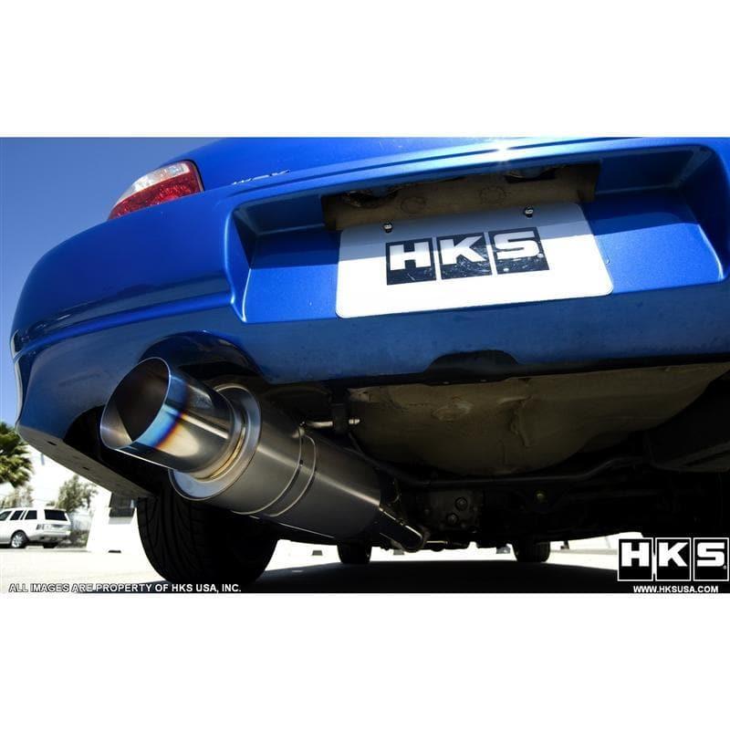 hks racing ti cat back exhaust subaru wrx sti gd