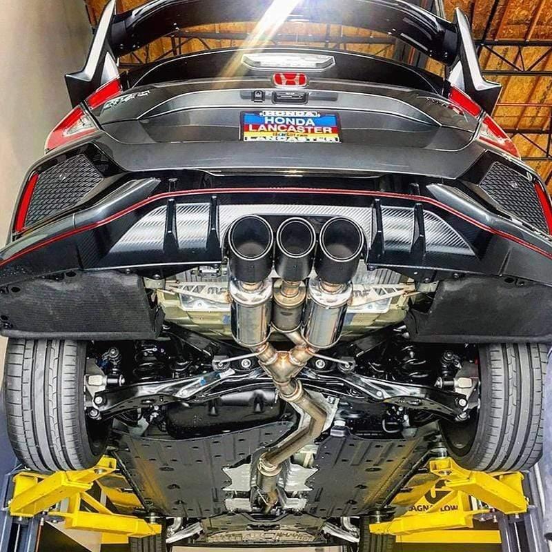 magnaflow cat back exhaust system 2017 honda civic type r