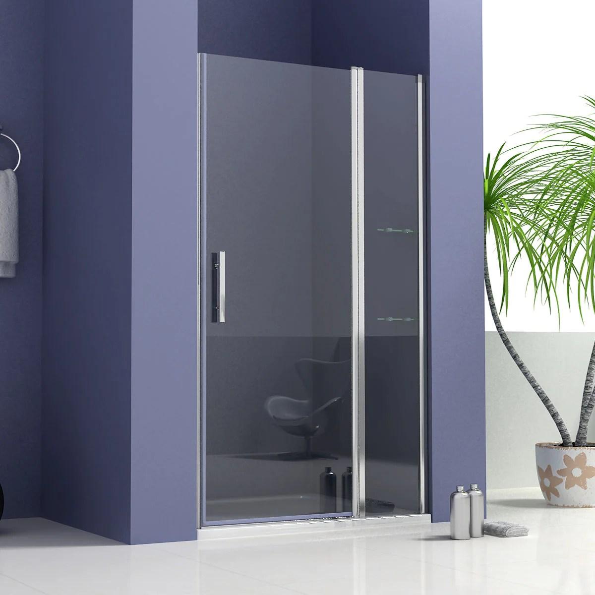 700 1000 1200mm Frameless Pivot Shower Door Shower Stone Tray Optional