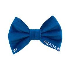 Blue Dog Bow Personalised Name Swarovski Crystal