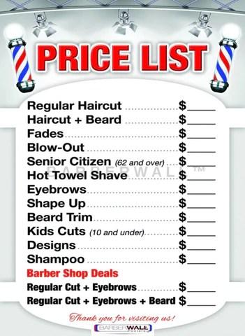 barber poster for barber shop