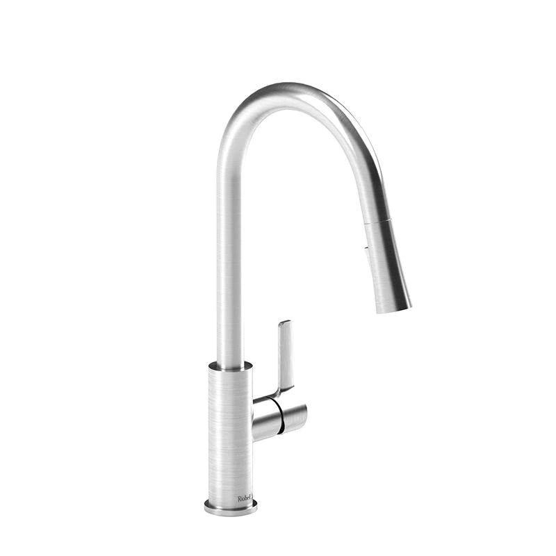riobel po101ss pronto kitchen faucet with spray