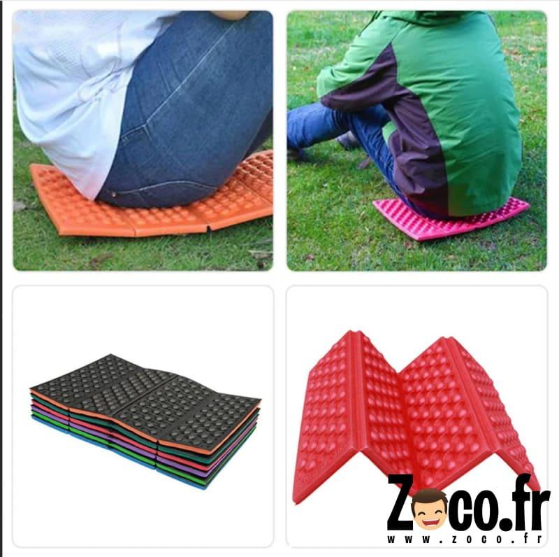 tapis pliable portable en mousse impermeable a l humidite coussin pour randonnee camping voyage tapis rouge