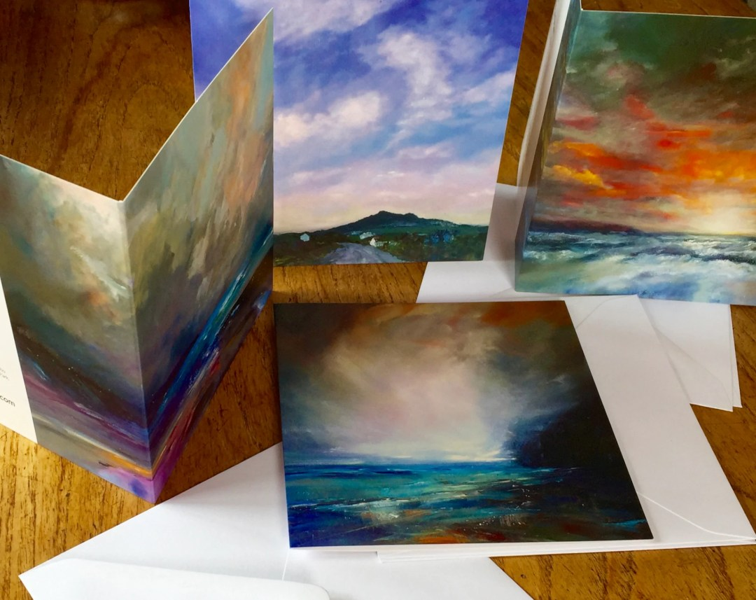 Greeting cards, set of 4 designs