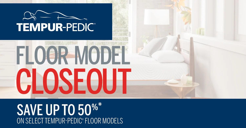 tempur pedic model closeout event