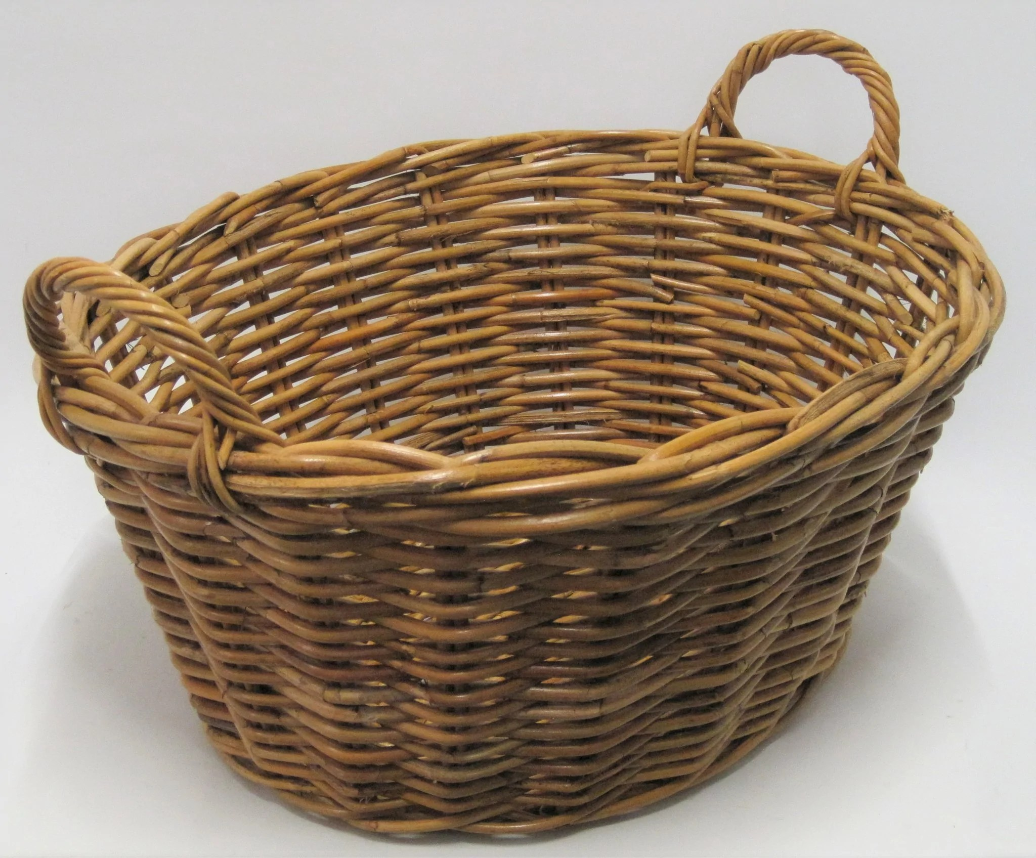 Oval Rattan Washing Basket Babes In The Bush
