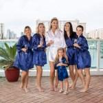 Satin Navy Bridesmaid Robes Bridesmaid S World