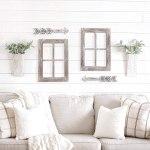 4 Pcs Modern Farmhouse Interior Wall Hanging Decor Wood Arrow Window Frame Timeyard