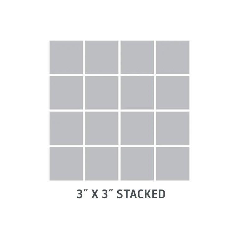 sample of clayhaus mosaic ceramic tile 3x3 stacked modwalls tile