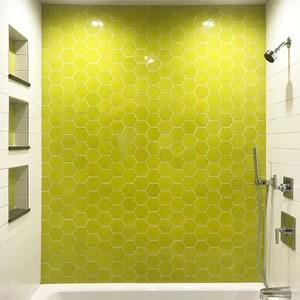 kiln ceramic 4 hexagon tile 105 colors