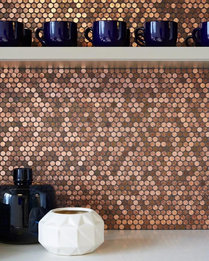 real penny mosaic tile modwalls modern tile