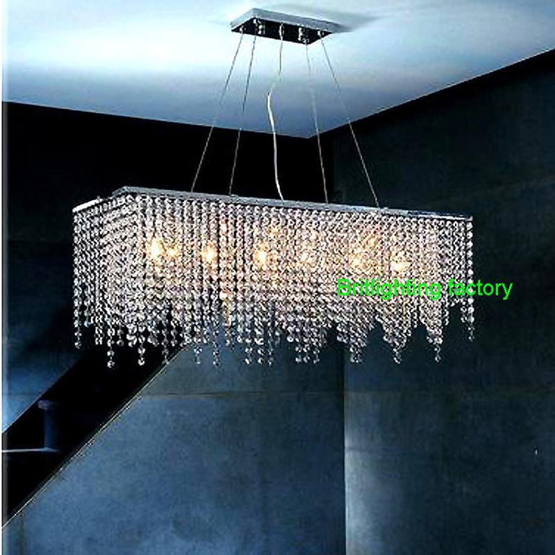 modern crystal chandelier light for dining room led crystal chandeliers rectangle kitchen chandelier lighting led hanging lamp