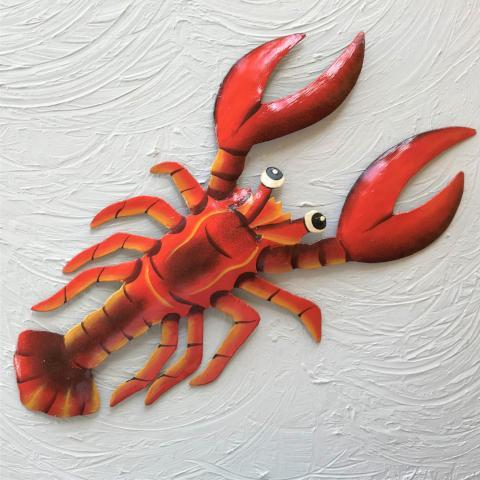 Metal Red Lobster Wall Art Caribbean Rays