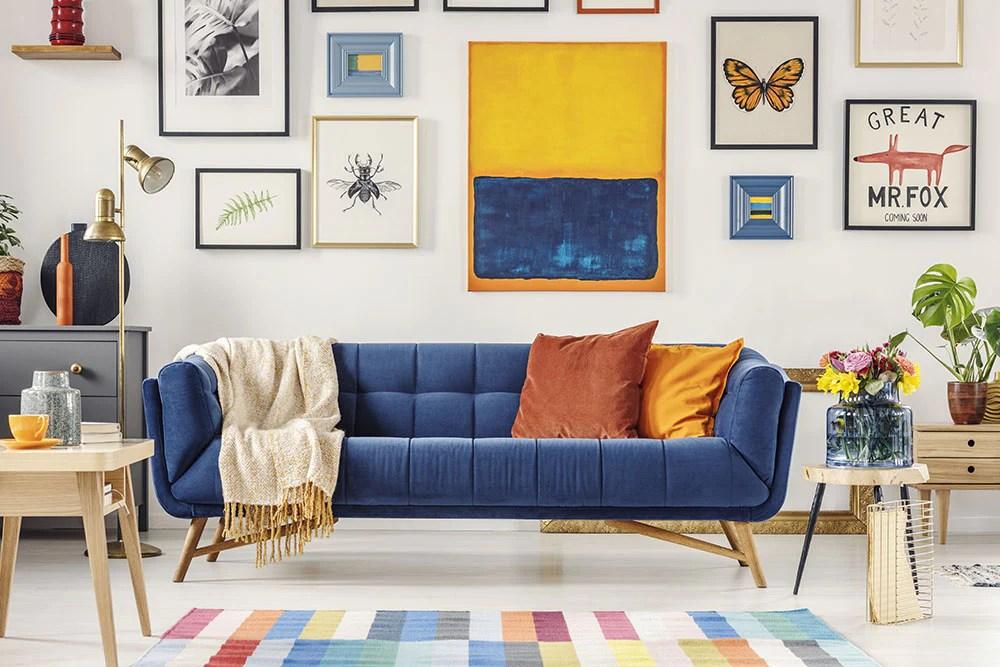 Navy Blue Living Room Design Ideas Ambunti Warehouse