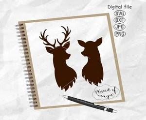 112 Christmas Deer Svg Images