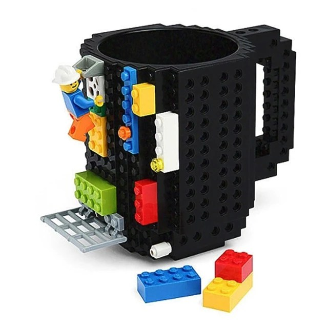 Coffee Mug LEGO Building Blocks Design     Leslie s Cool Stuff Coffee Mug LEGO Building Blocks Design