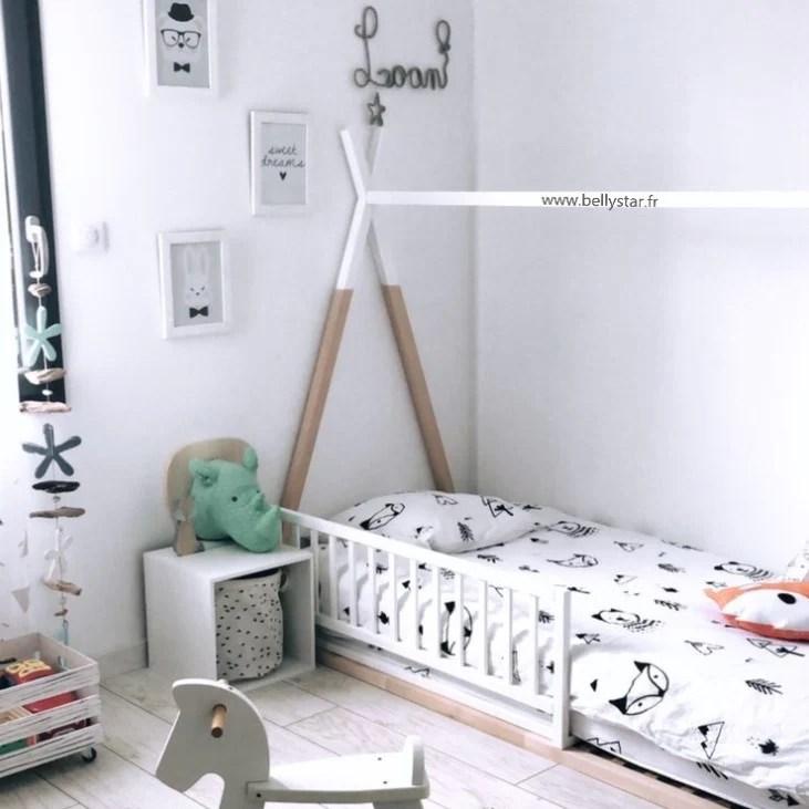 lit tipi dreamy bois et blanc