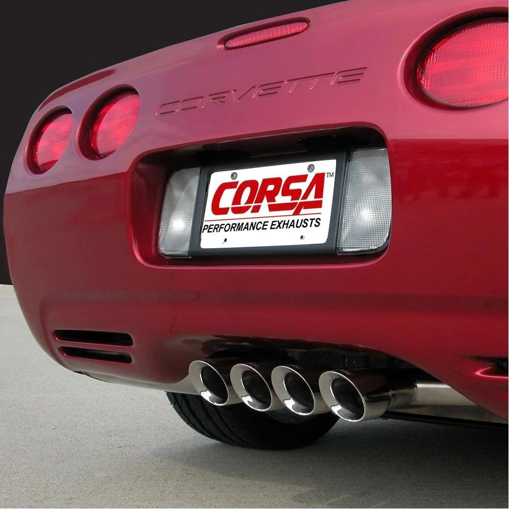 corvette exhaust system corsa indy pace car tiger shark quad 3 5