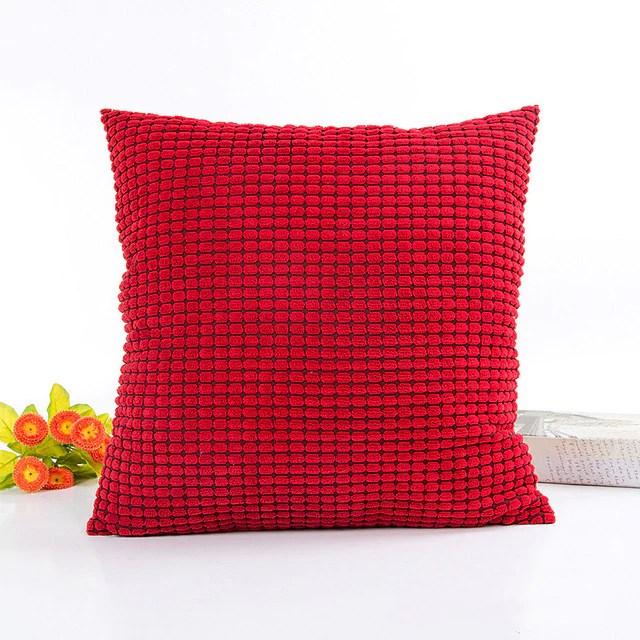 housse de coussin collection automne rouge brocade