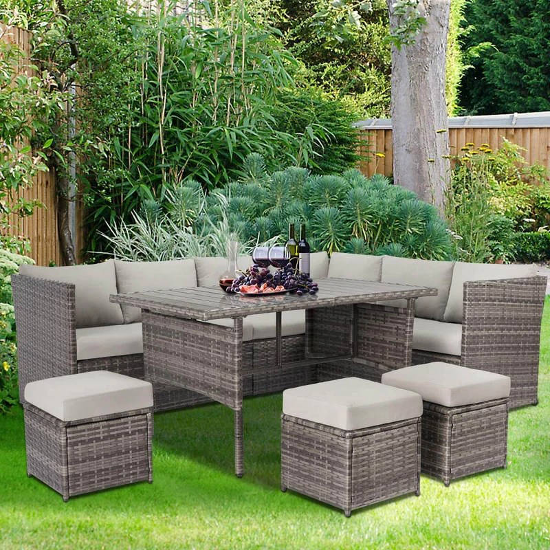 outdoor patio sectional furniture set