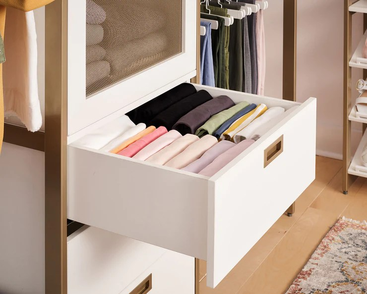 Find out how to build a walk in closet in this article from howstuffworks. Martha Stewart Walk In 6 Drawer, Hanging & Storage System ...