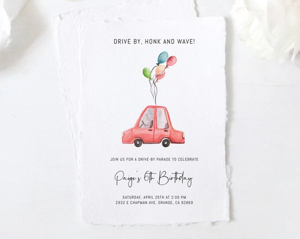 birthday invitations paperandthings