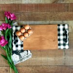 Modern Farmhouse Serving Tray Black And White Buffalo Check Plaid With Sweet Bay Lane