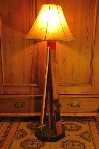 Vintage Childs Ski Floor Lamp VintageWinter