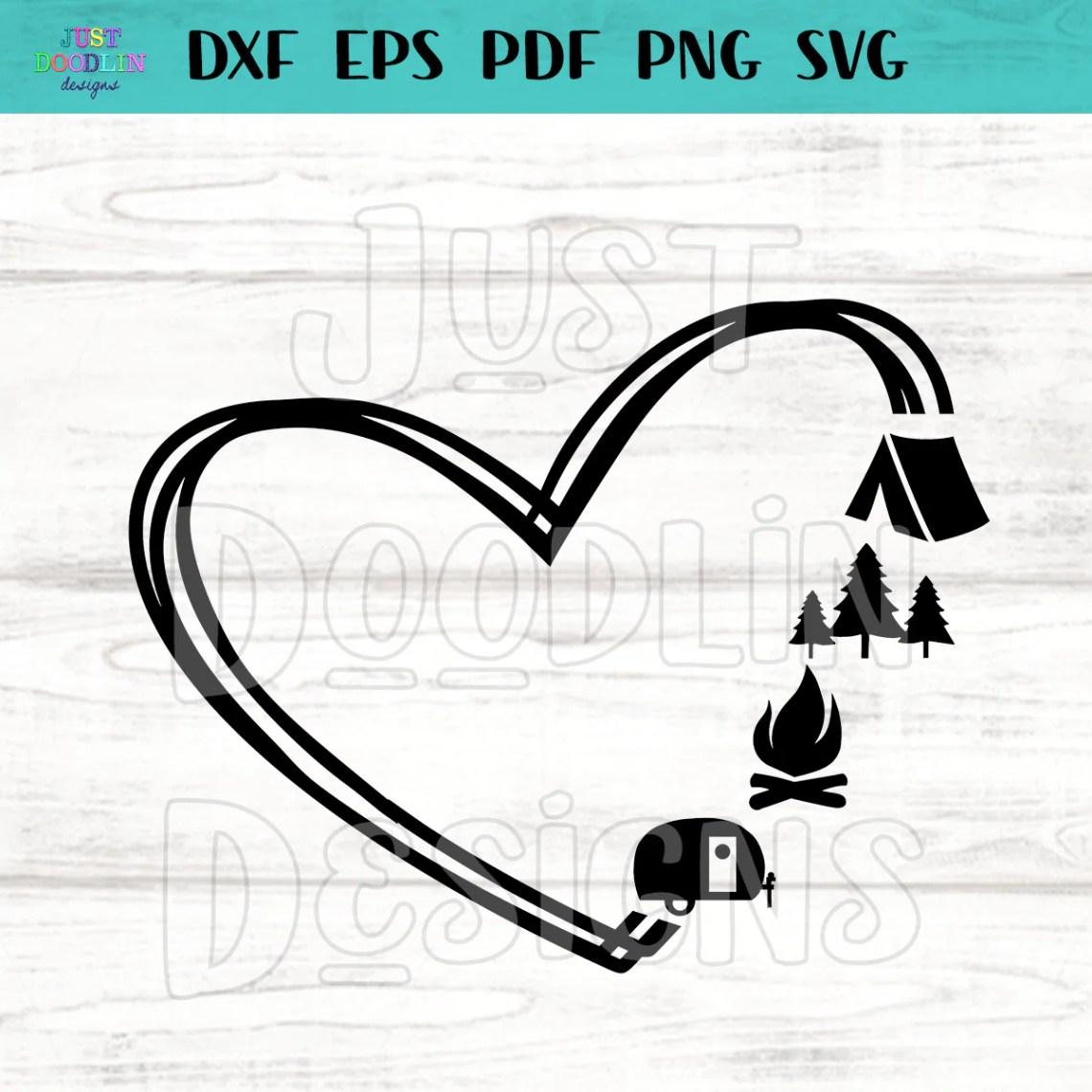 Download Heart Camping Love SVG file - Just Doodlin Designs