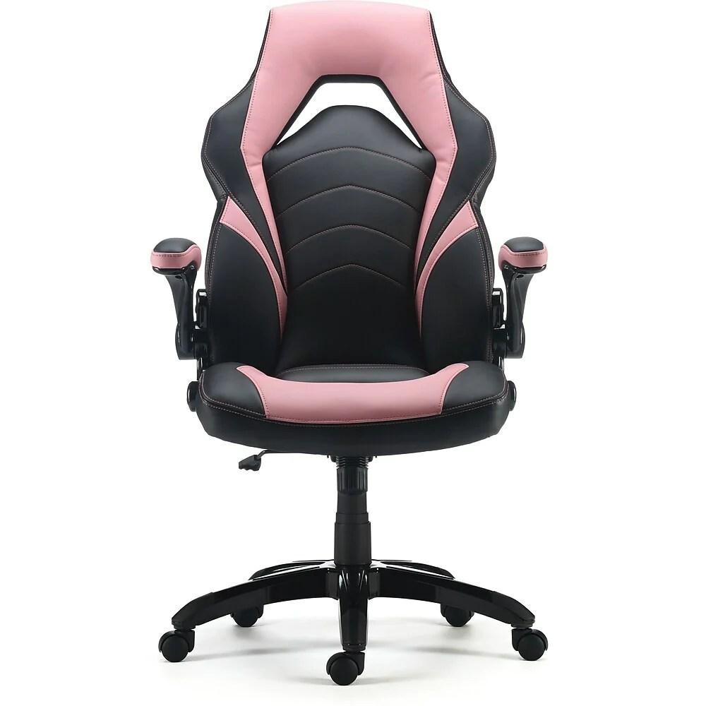 staples fauteuil de direction de style course rose 53348 ca